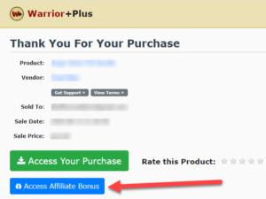 Warrior plus bonus area
